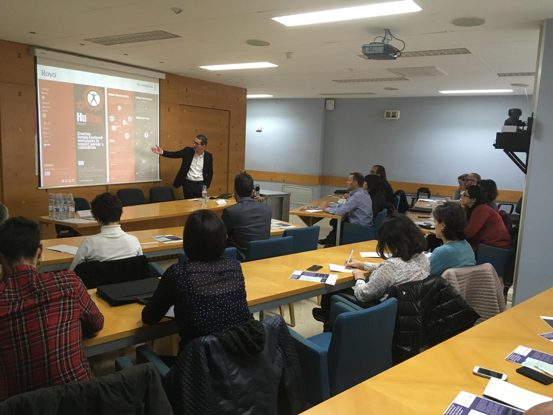 César Taboas during his presentation of HuMan